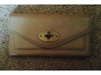 Beautiful Mulberry Beige leather continental purse