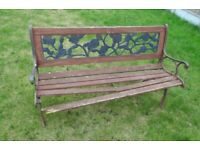(#590) cast iron ends garden bench (Pick up only, Dy4 area)