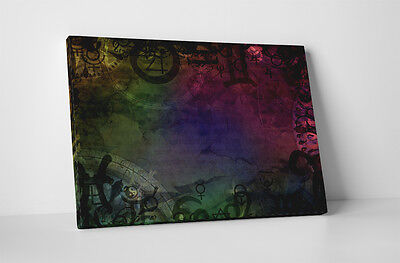 Ancient Symbols Abstract Art Gallery Wrapped Canvas Print 30