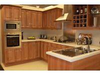 Walnut Shaker 10pcs Units Includes Wood Worktop & fittings.Sale stock