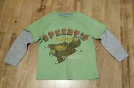 Boys long sleeved graphics tshirt age 5 years