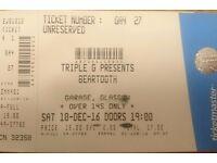 Beartooth ticket - Glasgow