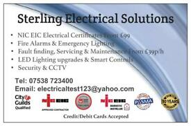 ELECTRICIAN NICEIC Approved Contractor Landlord Electrical Certificate Shops/Offices HMO EICR EIC