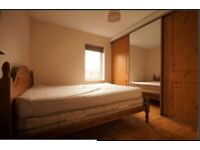 Wooden double bed with 2 double mattresses