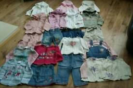 Girls very large clothing bundle age 12-18 m