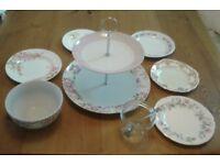 Vintage plates, cake stands, bowls and jars **
