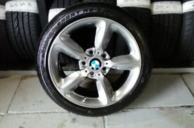 ALLOYS X 4 OF 17 INCH GENUINE BMW 1 SERIES FULLY POWDERCOATED IN A STUNNING SHADOW/CHROME VERY NICE