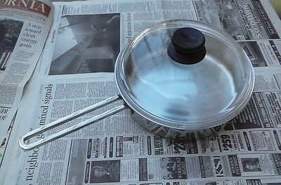 Berndes Fully Clad 2-1/2 QT Saute Pan w Pyrex Domed Glass Lid - Made in Germany Berndes Glass Saute Pan