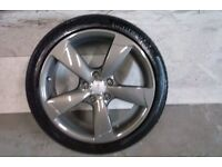 ALLOYS X 4 OF 18 INCH GENUINE AUDI A3 ROTA 5 SPOKE FULLY POWDERCOATED INA STUNNING ANTHRACITE NICE