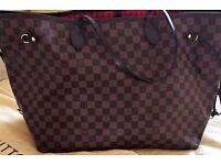 Louis Vuitton Neverfull GM Bag AND detachable clutch purse