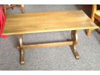 Solid light oak refectory style coffee table