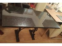 cast iron and granite table