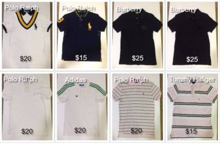 Men Polo Shirt Short Pant Tee Size Small Size 30  - From $3 each