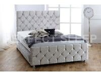 ✔️SALE END SOON✔️ BRAND NEW CHESTERFIELD BED IN DOUBLE/KING SIZE FRAME WITH OPTIONAL MATTRESS✔️