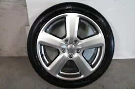 ALLOYS X 4 OF 18 INCH GENUINE AUDI A3 RONAL FULLY POWDERCOATED IN STUNNING SHADOW/CHROME NICE ALLOYS