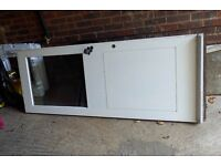 Wooden Back Door, part Double Glazed with Chubb and Security Locks & Keys in reasonable condition.