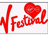 2 V Festival Weekend Camping Tickets For Sale £300 o.n.o