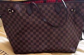 Louis Vuitton GM Neverfull Bag INCLUDES Detachable Internal LV Clutch Purse