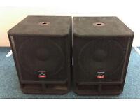Wharfedale Pro EVP X15B Bass Bins / Sub speakers Save £240 on new!