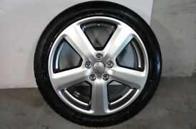 ALLOYS X 4 OF 18 INCH GENUINE AUDI A3 5 SPOKE RONAL FULLY POWDERCOATED IN A STUNNING SHADOW/CHROME