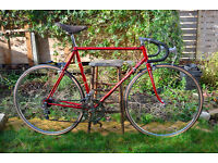 Vintage 1960s French Belfo red racer road bike size 57cm. made by Motobecane . Lovely condition