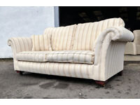 Parker Derwent 3 seater striped sofa VGC DELIVERY AVAILABLE