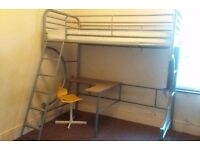 Fantastic Bunk bed with work station and Ikea chair