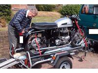 INDESPENSION SINGLE RAILED MOTORCYCLE MOTORBIKE TRAILER