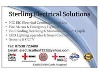 NICEIC APPROVED ELECTRICIAN ELECTRICAL CERTIFICATES PART P FIRE ALARMS EMERGENCY LIGHTING