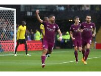 Manchester City Sergio Aguero Hat Trick Striker Stones Otamndi Football A3 Poster Print