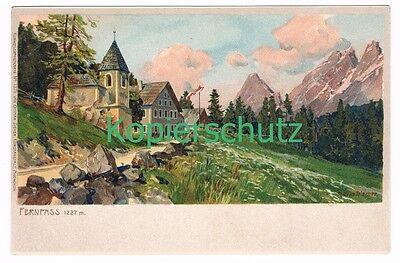 662 Zeno Diemer Fernpass Panorama Litho Künstlerkarte