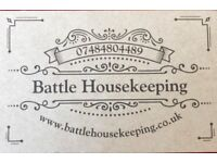 Battle Housekeeping - cleaning services for your home, flexible times to suit your needs