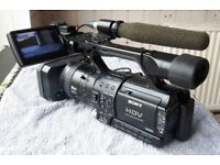 Sony Professional Camcorder HVR-Z1P + Microphone