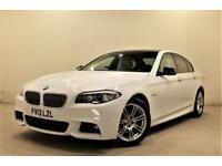 BMW 5 SERIES 2.0 520D M SPORT 4d AUTO 181 BHP + 1 PREV OWNER +SAT NAV + REAR CAM (white) 2013