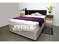 EXCLUSIVE OFFER - Brand New Double/Small Double Divan Bed Base with 10inch Full Orthopaedic Mattress