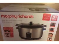MORPHY RICHARDS SEAR & STEW 6.5L SLOW COOKER. BRAND NEW