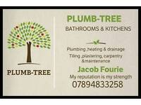 Plumbing. Fitting baths ,showers, basins and Wc