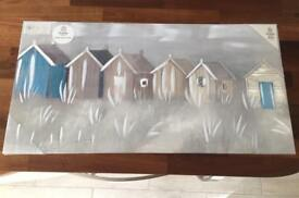 New Canvas picture - Seaside / beach hut image still in packaging