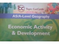 Used, AS/A Level Geography Economic Activity & Development Topic Cue Cards (Flash Cards) for sale  East London, London