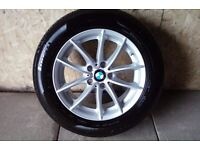ALLOYS X 4 OF 17 INCH GENUINE BMW X3 STYLE/304/ IN EXCELLENT CONDITION WITH A NEW SET PIRELLI TYRES
