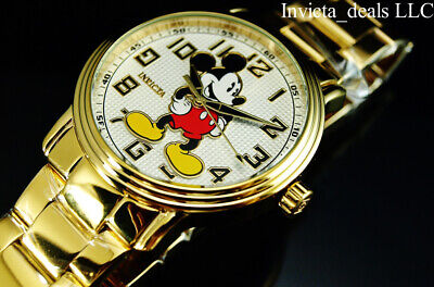Invicta Disney® Men's 43mm Mickey Mouse Quartz Limited Ed 18K Gold Plated Watch
