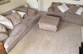 Sofa set and footstool