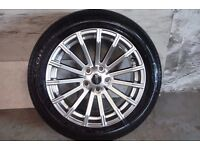 ALLOYS X 4 OF 19 INCH GENUINE RANGEROVER/DISCOVERY FULLY POWDERCOATED IN A STUNNING SHADOW/CHROME