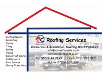 Roof Repairs New Roofs Flat Roof Slates Tiles Dormers EPDMs GRP Soffits Guttering Bradford *NO VAT*