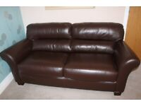 Leather sofa in immaculate condition!