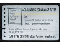 Tutor Maths Economics Accounting Business - Leicester