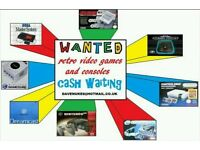 WANTED-retro video games and consoles, nintendo, sega, atari, figures etc