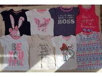 3-4 years girls t-shirt bundle