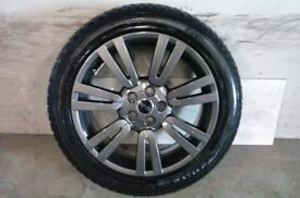 ALLOYS X 4 OF 20 INCH GENUINE RANGEROVER FULLY POWDERCOATED INA STUNNING ANTHRACITE VERY NICE WHEELS