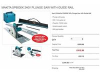 Makita SP6000K 240v Plunge Saw with Guide Rail